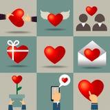 vektorhjärta för valentindag Royaltyfria Bilder