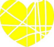 Vektorhjärta som göras från färgband Arkivfoto