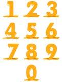Vektorhonungstatyetter Honungnummer stock illustrationer