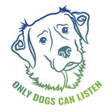 Vektorhund Art With Text Arkivfoto