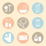 Vektorhygienprodukter sänker symboler Arkivbild