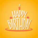 Vektorikone alles Gute zum Geburtstag lizenzfreie abbildung