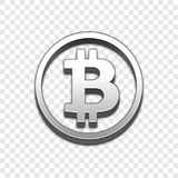 Vektorikone Art 3d Bitcoin modische vektor abbildung