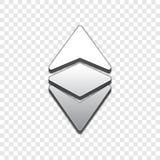 Vektorikone Art 3d Ethereum klassische modische Lizenzfreie Stockfotografie