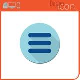 Vektorikone auf weißem Hintergrund Designertendenz Menü-Ikone für Gebrauch auf der Website oder der Anwendung Stockbild