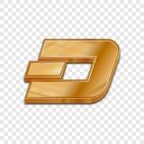 Vektorikone der Art 3d der goldenen Schlagmünze modische Stockfoto