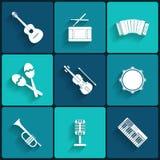 Vektorikone der musikalischen Ausrüstung Stockfoto