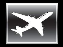 Vektorikone des Flugzeuges. Stockfotografie