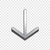 Vektorikone des Pfeiles 3d Angehobene Symbolillustration Lizenzfreie Stockfotografie