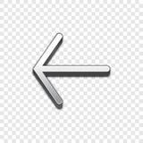 Vektorikone des Pfeiles 3d Angehobene Symbolillustration Stockbild