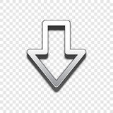Vektorikone des Pfeiles 3d Angehobene Symbolillustration Lizenzfreies Stockfoto