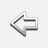 Vektorikone des Pfeiles 3d Angehobene Symbolillustration Stockfotografie