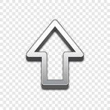 Vektorikone des Pfeiles 3d Angehobene Symbolillustration Stockbilder