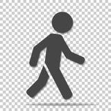 Vektorikone eines gehenden Fußgängers Illustration eines gehenden m lizenzfreie abbildung