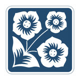 Vektorikone mit Blumen Stockfotos