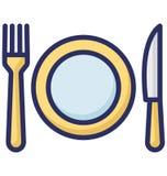Vektorikone speisen, die leicht geändert werden oder redigieren kann lizenzfreie abbildung