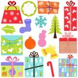 Vektorikonen: Geschenk-Kästen (Geschenk), Weihnachten Lizenzfreie Stockfotografie