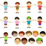 Vektorikonen: Jungen, Mann, Kinder Lizenzfreie Stockfotos