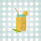 Vektorikonen-Limonadenillustration Unbedeutendes Lebensmittel Lizenzfreie Stockfotografie