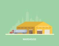 Vektorillustration auf dem Thema von Logistik Lizenzfreies Stockfoto