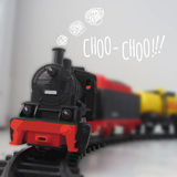 Vektorillustration av ångalokomotivet Royaltyfri Fotografi