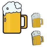 Vektorillustration av öl Fotografering för Bildbyråer
