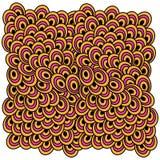 Vektorillustration av abstrakt begrepp färgade cirklar Arkivbilder