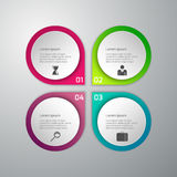 Vektorillustration av affärsinfographicsen 4 alternativ Uppsättning av stock illustrationer