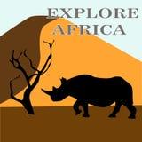 Vektorillustration av Afrika stock illustrationer