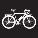 Vektorillustration av att turnera cykeln i plan stil stock illustrationer