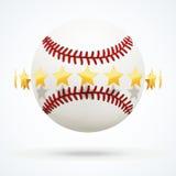 Vektorillustration av baseballläderbollen med Arkivbild