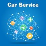 Vektorillustration av bilsymboler Arkivbilder