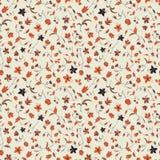 Vektorillustration av blom- stiliserat abstrakt begrepp och att plaska textur royaltyfri illustrationer