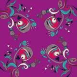 Vektorillustration av blommor på mörk bakgrund goda för ditt baner, kort, textil Royaltyfri Foto