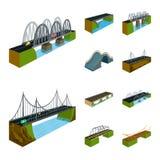 Vektorillustration av bridgework och arkitekturlogoen Samling av bridgework- och strukturvektorsymbolen f?r materiel royaltyfri illustrationer