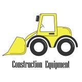 Vektorillustration av bulldozern vektor illustrationer