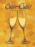 Vektorillustration av champagneexponeringsglas Royaltyfri Foto
