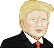 Vektorillustration av den amerikanska presidenten Donald Trump Royaltyfri Bild