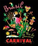 Vektorillustration av den brasilianska karnevalet Royaltyfri Foto