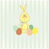 Vektorillustration av den easter kaninen Royaltyfria Bilder