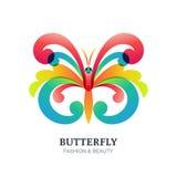 Vektorillustration av den färgrika dekorativa fjärilen Royaltyfri Foto