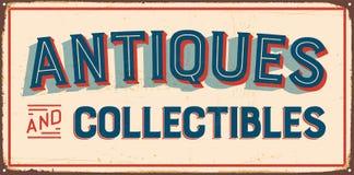 Vektorillustration av den gamla garageaffischen stock illustrationer