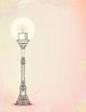 Vektorillustration av den glödande ljusstaken stock illustrationer