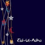 Vektorillustration av den härliga hälsningkortdesignen 'Eid Adha Arkivbilder