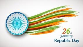 Vektorillustration av den Indien republikdagen för 26 Januari royaltyfri illustrationer