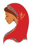 Vektorillustration av den indiska kvinnan Royaltyfri Bild