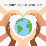 Vektorillustration av den internationella dagen för solidaritet Arkivbild