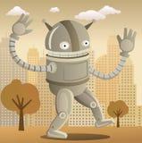 Retro robot (färgar), Royaltyfria Foton