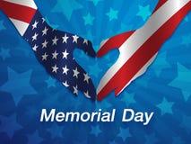 Vektorillustration av den Memorial Day designen Royaltyfri Foto