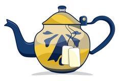 Retro teapot Arkivfoto